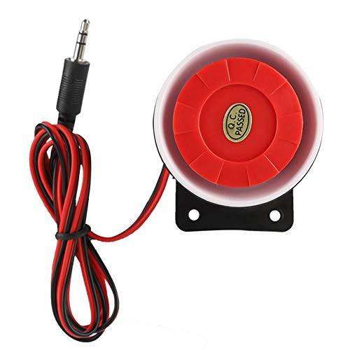 Fire Alarm Horn Strobe (Mini Red Feueralarm,DC 12V Innensirene Wireless Blinkende Sirene Alarm Smart Home Außensirene System)