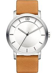 Danish Design - DZ120275 - Montre Femme - Quartz - Analogique - Bracelet Cuir Marron