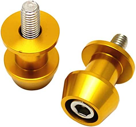 Lumpur Sliders 6//8//10mm Screw Spools Swing Arm Car Accessories Motorcycle Stand Bobbins 6mmGold