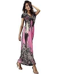 Neighbor Girl vestido de la playa del leopardo de fregar el vestido bohemio de gran tamaño de seda del hielo baja
