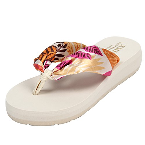 Yodensity Tongs Chaussures Eté Tongs De Piscine Plage Flip Flop Sandale Femme Beige
