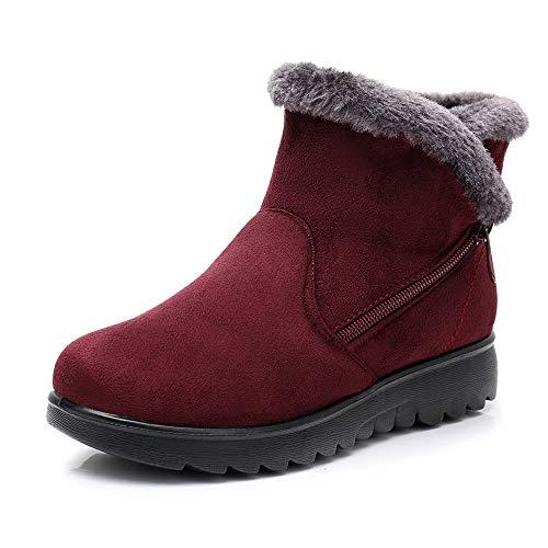 JYJM 2018 Schneestiefel Warm Gefütterte Winterschuhe Outdoor Winterstiefel Stiefel für Damen Herren Shop günstig kaufen Damen Plus Stiefel SchneeschuheStiefel Reißverschluss