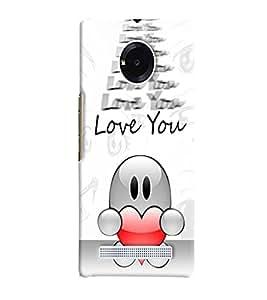 Fuson Love Heart Back Case Cover for MICROMAX YU YUPHORIA AQ5010 - D3828