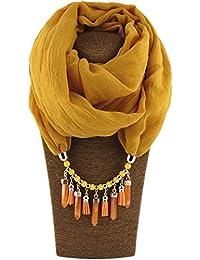 Amazon.es: Etnica - Amarillo / Bufandas / Bufandas, estolas y fulares: Ropa