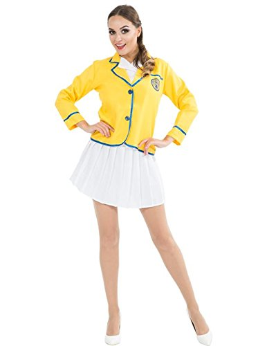 Sexy Yellow Coat Hostess Outfit for Women with shorter skirt - S to XL