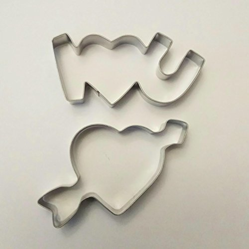 Lawman I love you & Pfeil durch Herz Valentine Day Fondant Teig Cookie Cutter Set