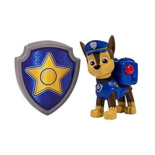 Paw Patrol - La Squadra Dei Cuccioli - Action Pack - Chase - Personaggio Zaino Con Distintivo