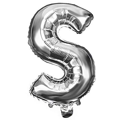 winterswet Globos de Aluminio de 16 Pulgadas, Globos de Helio inflables, decoración Digital para Fiestas de cumpleaños, Bodas y Fiestas