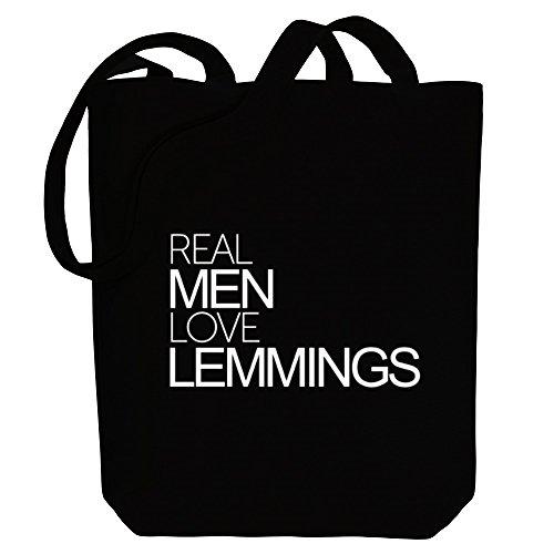 Idakoos Real men love Lemmings - Tiere - Bereich für Taschen (Lemmings Tiere)
