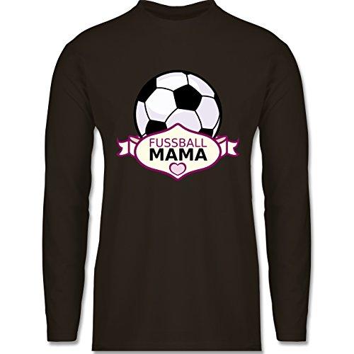 Shirtracer Fußball - Fußball Mama - Herren Langarmshirt Braun