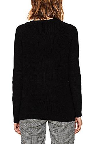 edc by ESPRIT Damen Pullover Schwarz (Black 001)