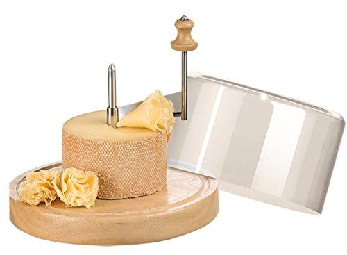 Ard'time KS-TETMO Käsereibe für Tête de Moine mit Halterung aus Holz und Glasglocke
