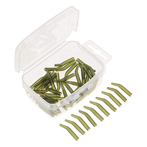 HATCHMATIC 50Pcs Karpfenangeln Sleeve Hair Rig Linie Hlsen-weiche Anti Tangle Angelausrstung Karpfenangeln mit Tackle Box: Grße S