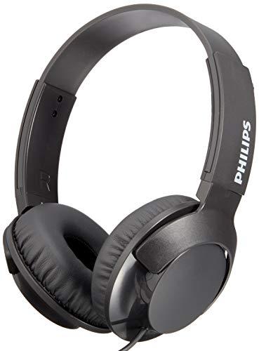 Philips shl3075bk/00 cuffie auricolari on ear (bassi voluminosi, isolamento dei rumori, elevato comfort nel portarle, funzione viva voce, richiudibili piatti), nero