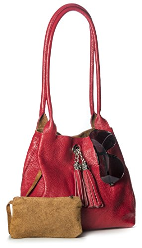 Big Handbag Shop, Borsa a mano donna One Arancione (Burnt Orange)