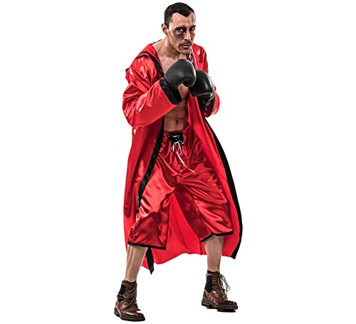 Kostüm Rey Erwachsene Für - EL REY DEL CARNAVAL, SL Boxer Kostüm rot für Erwachsene Einheitsgröße