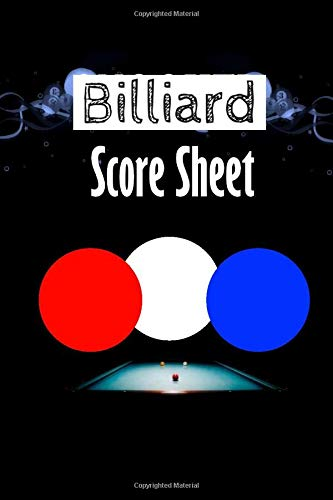 Billiard Score Sheet: paperback for tracking who-done-it in your favorite murder mystery game.