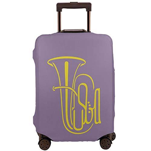 Tuba Reisegepäck Koffer Schutz Koffer Gepäck Abdeckung Trolleyhülle Schutzhülle Anti-Kratzer elastisch waschbar, weiß (Schwarz) - CFLove-XLXT-45929137