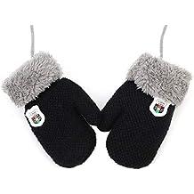 926372fea71 IBLUELOVER Moufles Enfant Bébé Filles Garçons Gants Hiver Gant de Ski Gants  en Tricot Gloves Couleur