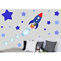 Childrens Rocket, Space & Stars Multipack - Wall Art Vinyl Stickers