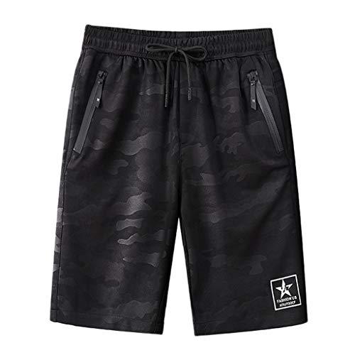 Herrenmode Sommer beiläufige Camouflage Pocket Drawstring Cotton Short Pants Zolimx -