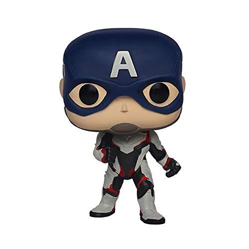 XBWJ-FP Marvel Avengers 4: Endgame - Captain America Toys, Figura De Acción De Captain America 4 Pulgadas / Altura 10 CM
