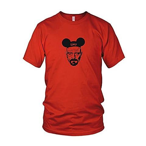 Mickey Walt - Herren T-Shirt, Größe: L, Farbe: rot (Walt Breaking Bad Kostüm)