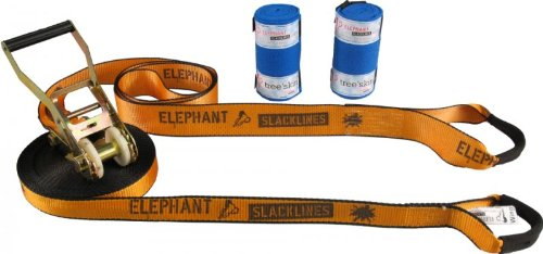 Elephant Slacklines Wing 3.5-Set - - 15 m orange slackline