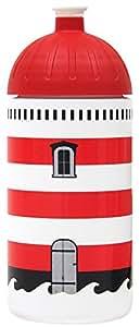 Trinkflasche von ISYbe - 0,5l - Ideal für Freizeit, Sport, Schule und Arbeitsplatz (Leuchtturm)