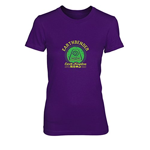 Earthbender Kostüm - Earthbender Kingdom - Damen T-Shirt, Größe: