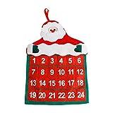 Guoyy Weihnachts Advent Weihnachtsmann Kalender Kreative Kalendar Xmas Decor Vliesstoff