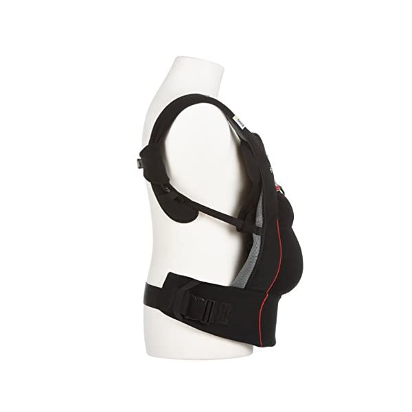 Fisher Price Hauck Close to me Ergonomic Baby Carrier New-born, Front, Breathable, Adjustable, for Infants from Birth up to 12 kg, Lumbar Support Belt, Black Fisher-Price  6