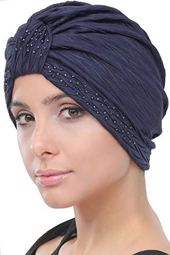 Deresina Headwear W turbante in perline stile per la caduta dei capelli 457b7ddaf7aa
