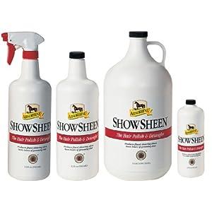 Absorbine ShowSheen für Pferde, Shampoo für glänzendes Fell, reduziert die statische Aufladung, stärkt und entwirrt. Wählen Sie aus 473ml, 946ml (Spray oder Refill), 3,8 Liter