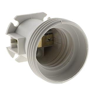 Zenitech 140805 Set de 20 Douilles de Chantier E27, Blanc