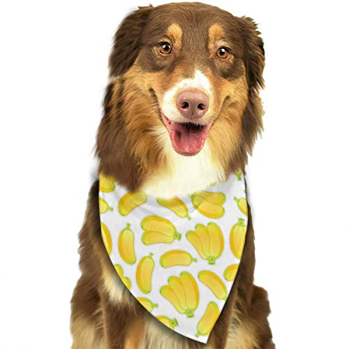 Sdltkhy Pet Bandana Bananas Leaf Art Washable and Adjustable Triangle Bibs for Pet Cats and Puppies