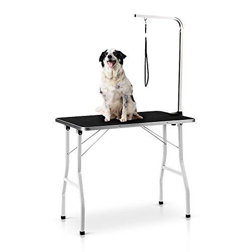 iKayaa Mesa Plegable de Aseo para Perro Mascota Tabla 90.8 * 60.8 cm