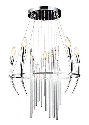 5 Licht Kronleuchter (Moderne Antik Kronleuchter Lüster Hängelampe Decken Pendel Licht 5 Arm 50x78cm 5xE14)