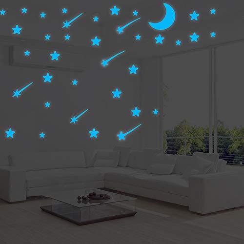 Adesivi Murali Fosforescenti.Bagliore Nelle Stelle Scure Adesivi Murali Adesivi Fluorescenti Stelle Decalcomanie Da Parete Luminose Per Soggiorno Camera Da Letto Soffitto Del Pub