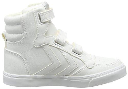 Hummel - Stadil Tonal Jr Hi, Sneaker alte Unisex – Bambini Bianco (Weiß (White 9001))
