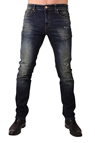 LTB Herren Jeans Joshua Arcton Low Rise Slim 50759-50382, Größe:W28 L32, Farbe:Joshua Arcton (50759-50382) Denim Destroyed Low Rise Jeans