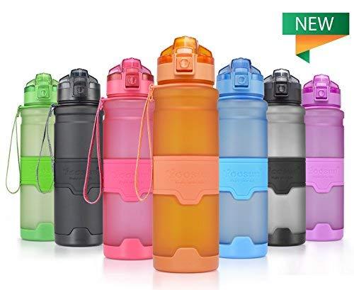 YOOSUN Sport Wasser Flasche BPA-Frei Auslaufsicher Reise Wasser Flasche Eco Kunststoff Trinkflasche Fitness Running Outdoor Camping Gym Wasser Flasche mit 1Click Öffnung, X-Large Orange, 1000ml -