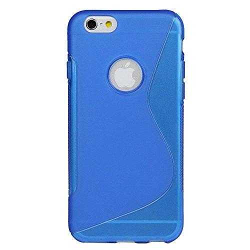 iPhone 6s 6 Panzerglas Folie Schutzglas Schutz Hülle Tasche Echt Glas Glasfolie, Farben:Weiß Blau