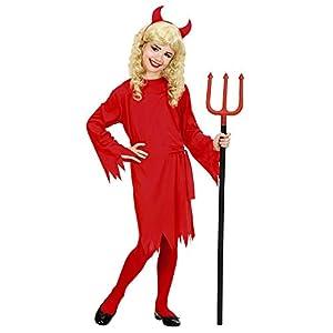 WIDMANN De los niños del Traje de la Muchacha del Diablo Grandes 11-13 años (158cm) para Halloween Lucifer Satanás Vestido