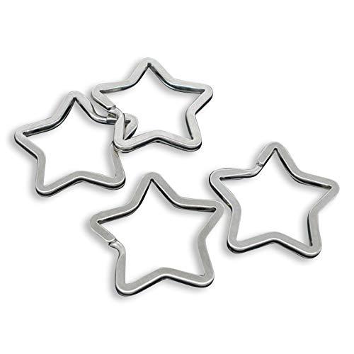 Sadingo Anneaux porte-clés/10 STK./étoiles/Argent
