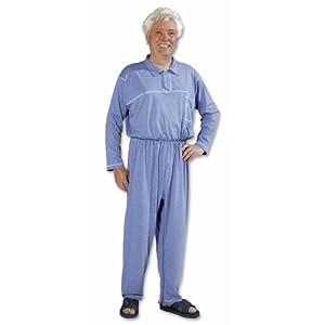 Die Pflegeexperten Pflegeoverall mit Beinreißverschluss Polokragen und Knopfleiste Gr. M/Farbe: jeans