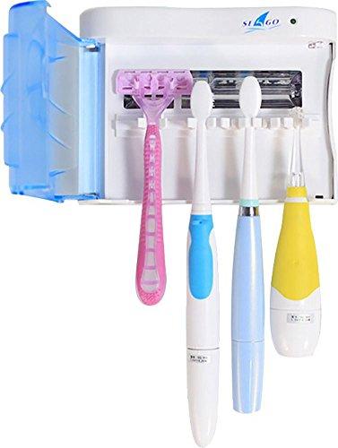 seago- Wand montierbar Tragbarer UV-Zahnbürste Desinfektionsmittel 6–8Minute Sanitizing Timer Zahnbürstenhalter Familie Größe von Happy Lily (Ac Wand Home-adapter Auto)