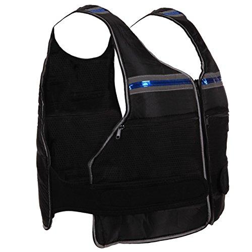 ScSPORTS® Gewichtsweste 10kg, Universalgröße, Verstellbarer Klettverschluss, entnehmbare Gewichte, Lauf-Weste gepolstert, schwarz