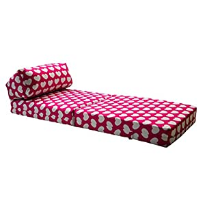 Marvelous Gilda Jazz Chairbed Kids Prints Deluxe Single Chair Z Bed Futon Pink Hearts Theyellowbook Wood Chair Design Ideas Theyellowbookinfo
