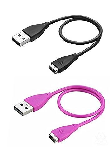 Lot de 2 Fitbit Charge HR Chargeur Câble 0.27m, BeneStellar